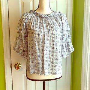 Ruffled Sleeve Shirt